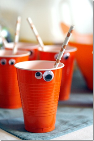 Halloween monster cups