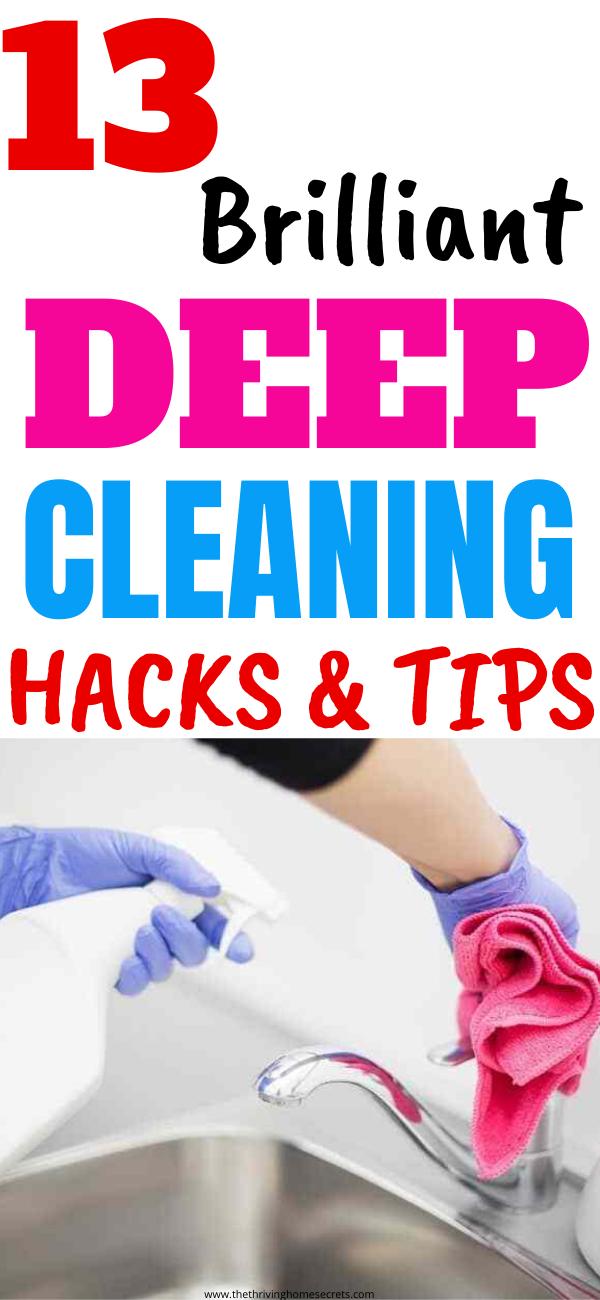 deep cleaning hacks