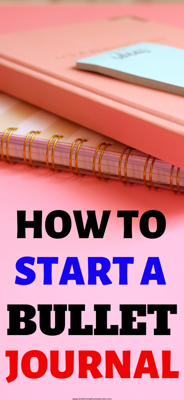 start a bullet journal for beginners